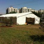 אוהל ופטרית חימום במסיבה
